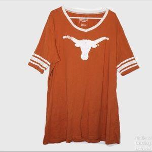 ☀️ Texas Longhorns V Neck T Shirt